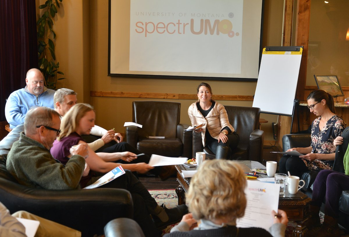 Holly leading meeting for spectrUM
